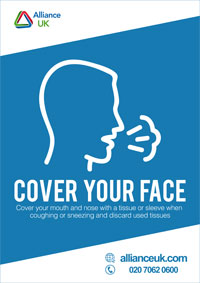 Alliance UK Cover Your Face Poster A4