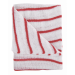 Stockinette Striped Dish Cloths Red