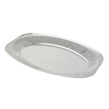 Oval Silver Embossed Foil Food Platter 17\