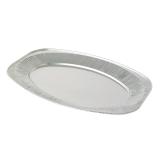 Oval Silver Embossed Foil Food Platter 22\