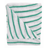 Stockinette Striped Dish Cloths Green